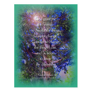 Serenity Prayer Cedar Tree Postcard