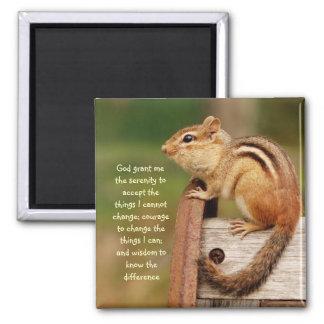 Serenity Prayer Chipmunk Magnet