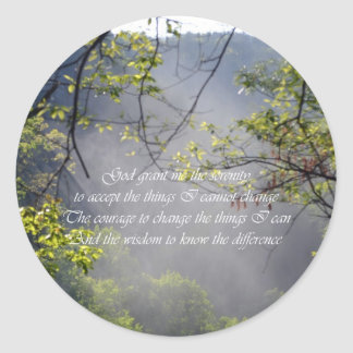 Serenity Prayer Classic Round Sticker