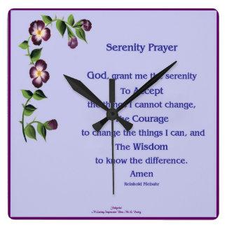 Serenity Prayer Clock
