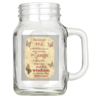 Serenity Prayer Collectable Mason Jar