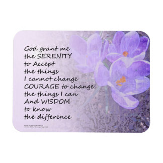 Serenity Prayer Crocus Magnet