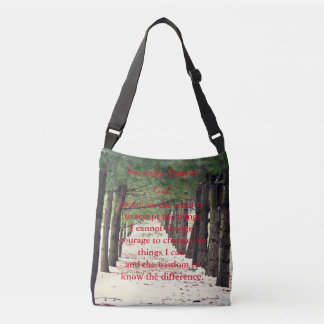 Serenity Prayer Crossbody Bag