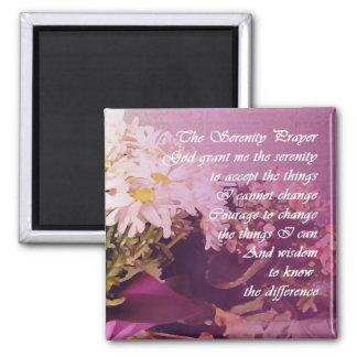 Serenity Prayer Daisies Magnet