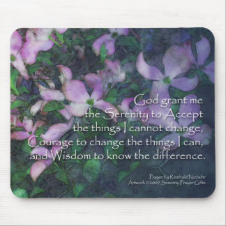 Serenity Prayer Dogwood Mouse Pad