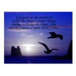 serenity prayer double bird blues postcard