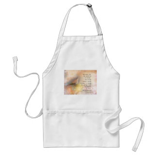 Serenity Prayer Dove and Flowers Standard Apron