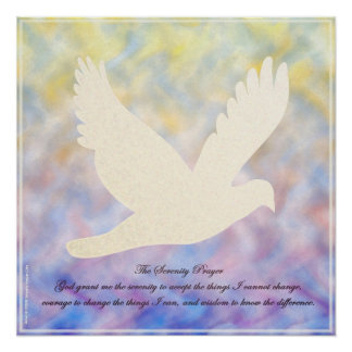 Serenity Prayer Dove Poster
