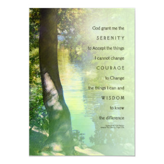Serenity Prayer Duck Pond Invitation