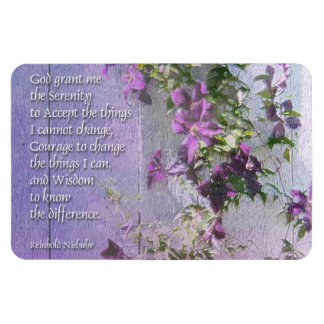 Serenity Prayer Fence Flowers Magnet