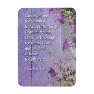 Serenity Prayer Fence Flowers Magnet