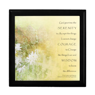 Serenity Prayer Fences Flowers Gift Box