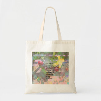 Serenity Prayer Floral Tote Bag