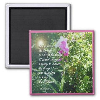 Serenity Prayer Flower Magnet
