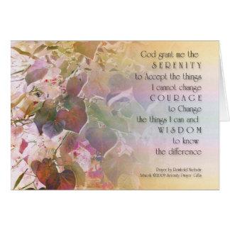 Serenity Prayer Forest Pansy Redbud Leaves Card