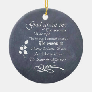 Serenity prayer gift chalkboard retro ceramic ornament