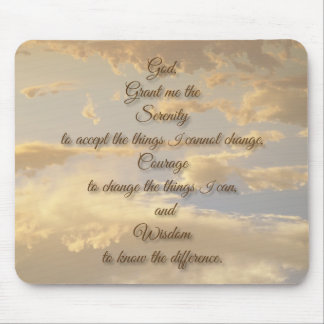 Serenity Prayer Glowing Sky Mouse Pad