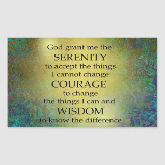 Serenity Prayer Gold on Blue-Green