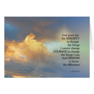 Serenity Prayer Golden Clouds Card