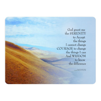 Serenity Prayer Golden Hills Card