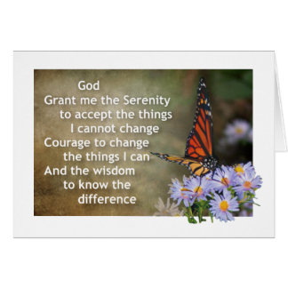 serenity prayer greeting card 17r
