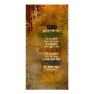 Serenity Prayer: Grunge Multi-color, Recovery Picture Card
