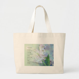 Serenity Prayer Hyacinth Blend Large Tote Bag