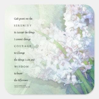 Serenity Prayer Hyacinth Blend Square Sticker