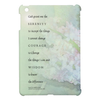Serenity Prayer Hyacinths Blend iPad Mini Covers