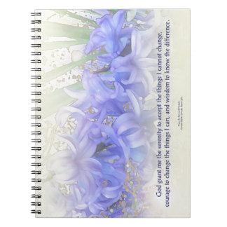 Serenity Prayer Hyacinths Notebooks