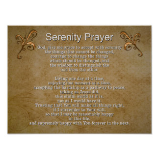 Serenity Prayer II -- Art Print