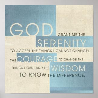 Serenity Prayer II Poster