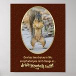 Serenity Prayer in a Nutshell Poster
