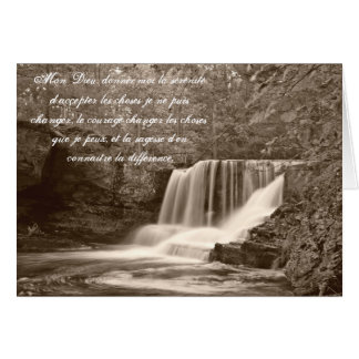 Serenity Prayer in French Waterfall Card
