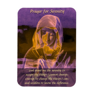 Serenity Prayer in Purple Magnet
