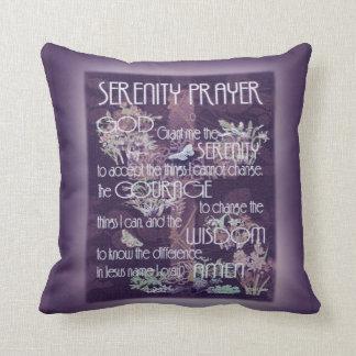Serenity Prayer in Purple Throw Pillow