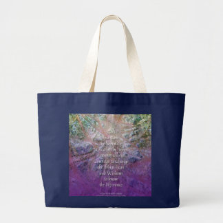 Serenity Prayer Incense Cedar Large Tote Bag