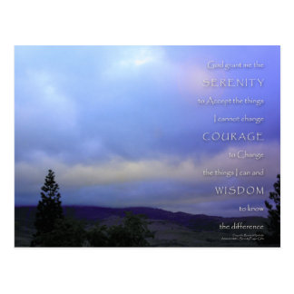 Serenity Prayer June Daybreak Postcard
