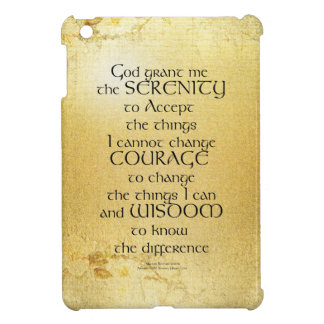 Serenity Prayer Kelt on Yellow iPad Mini Cover