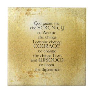 Serenity Prayer Kelt on Yellow Tile