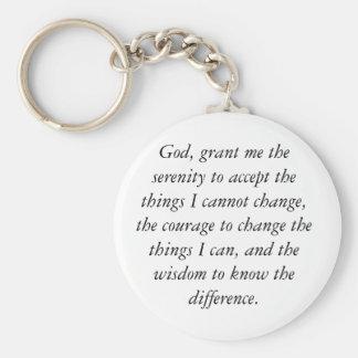 Serenity Prayer Keychain, simple & clean. Keychain