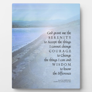 Serenity Prayer Lake View Plaque
