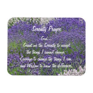 Serenity Prayer Lavender Garden Floral Magnet