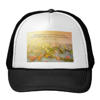 Serenity Prayer Leaves and Wall Trucker Hat