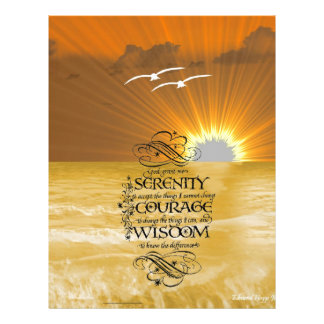 Serenity Prayer Personalized Letterhead