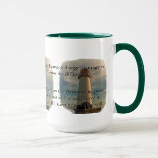 Serenity Prayer Lighthouse Mug