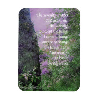 Serenity Prayer Lilacs and Trees Magnet