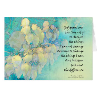 Serenity Prayer Manzanita Card