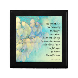 Serenity Prayer Manzanita Gift Box