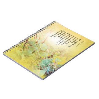 Serenity Prayer Manzanita Golden Notebooks